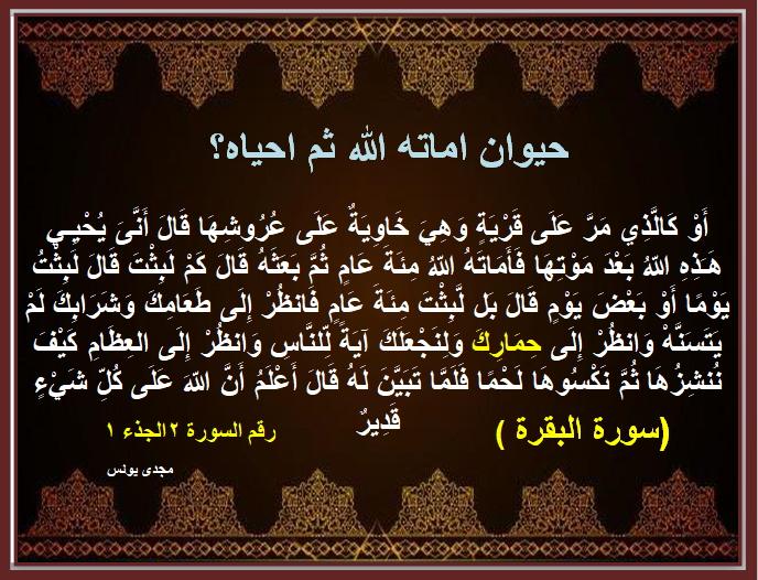 اسئلة دينية والاجابة عليها بالقران الكريم Aya10