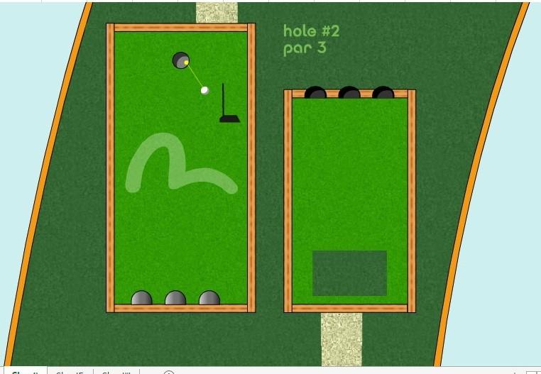 لعبة Golf بالاكسل Kmcrho10