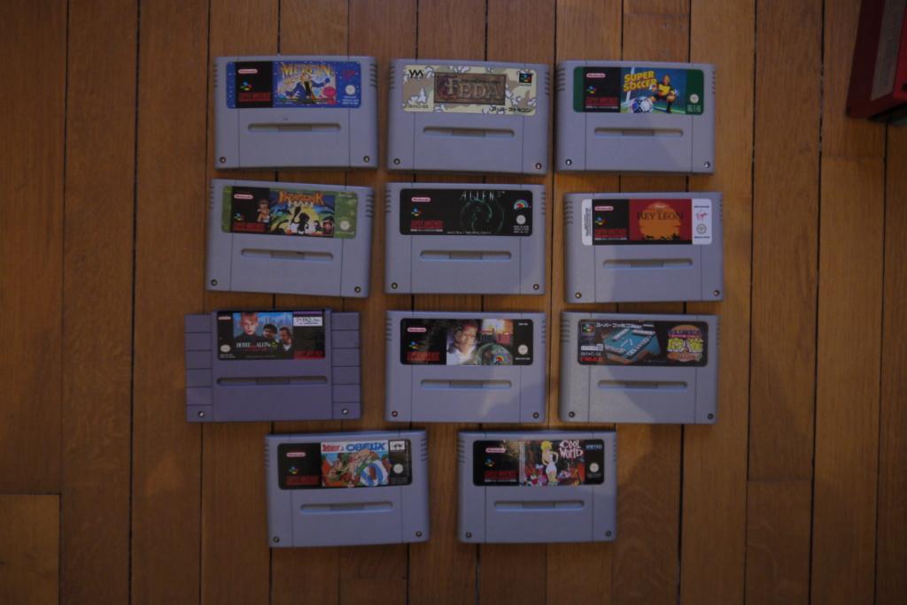 [VDS/ECH] Jeux GB complets : Motocross Maniacs, PacMan; Jeux Snes complets : Spirou, Tintin au Tibet; jeux Wii en loose P1080930