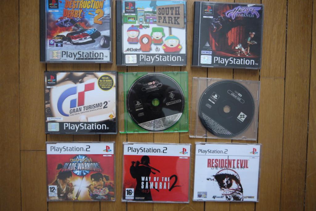 [VDS/ECH] PS one en boite, Jeux PS1 pal a 2 et 5 euros, jeux jap, jeux PS2 P1090026