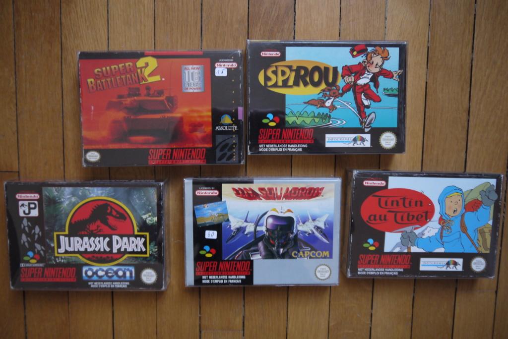 [VDS/ECH] Jeux GB complets : Motocross Maniacs, PacMan; Jeux Snes complets : Spirou, Tintin au Tibet; jeux Wii en loose P1090033