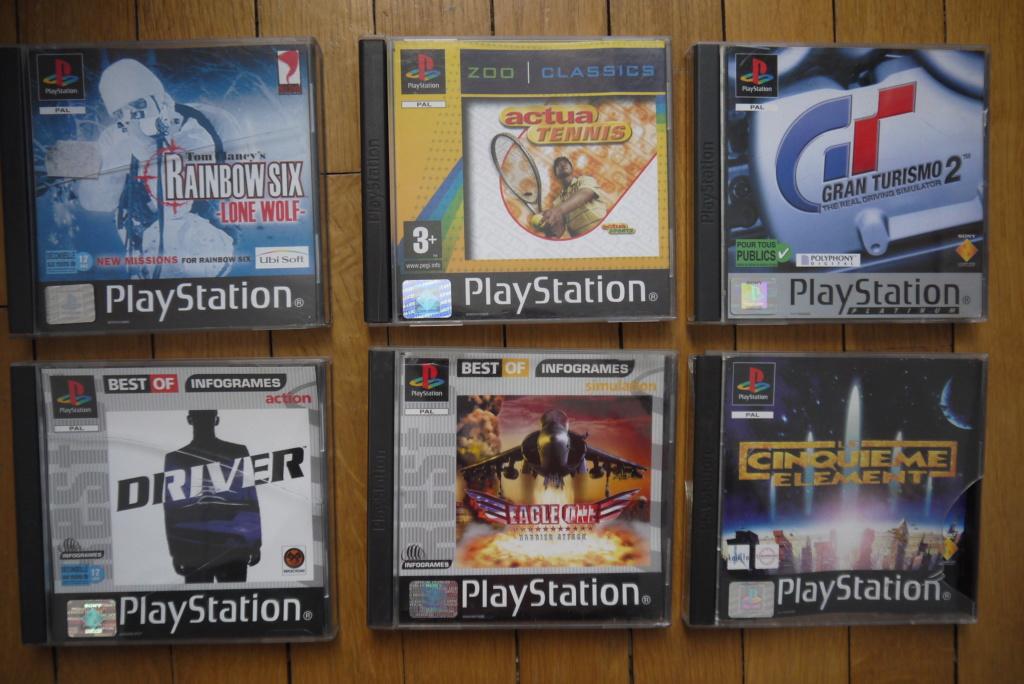 [VDS/ECH] PS one en boite, Jeux PS1 pal a 2 et 5 euros, jeux jap, jeux PS2 P1090037