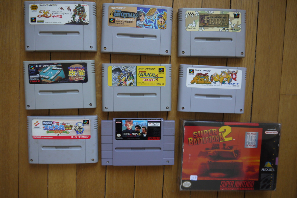 [VDS/ECH] Deja Vu, Tennis et Super Mario small box NES, jeux SFC, GB, DS, notices P1100632