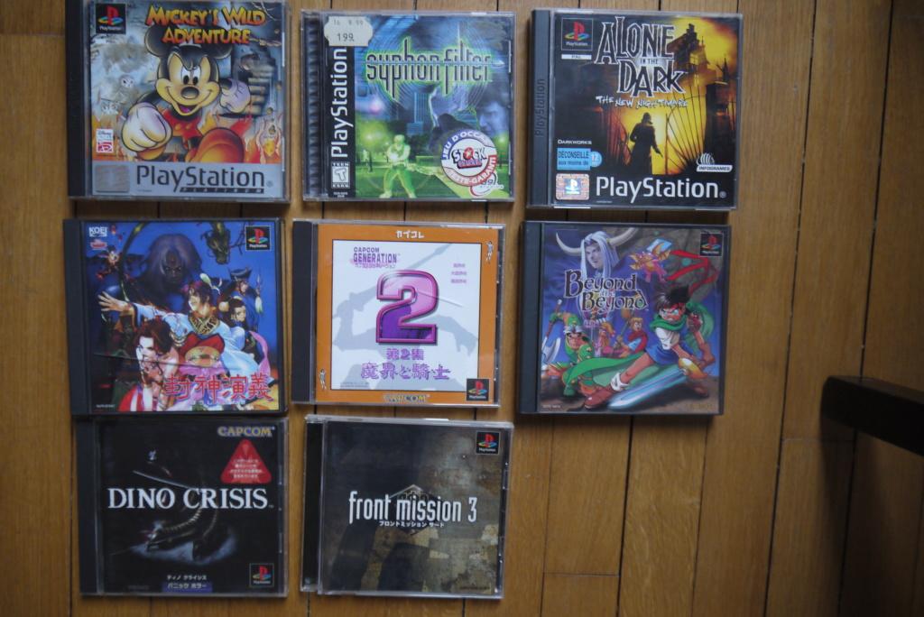 [VDS/ECH] Jeux psp, console PS2 en loose, jeux PS1 pal/jap/us P1100813
