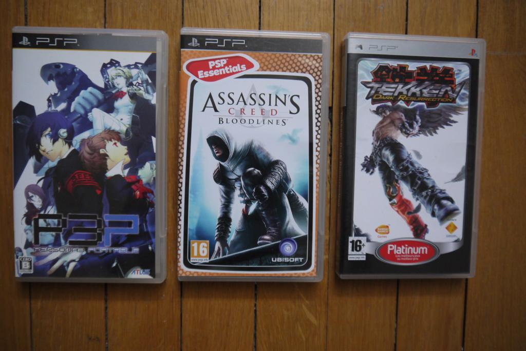[VDS/ECH] Jeux psp, console PS2 en loose, jeux PS1 pal/jap/us P1100912