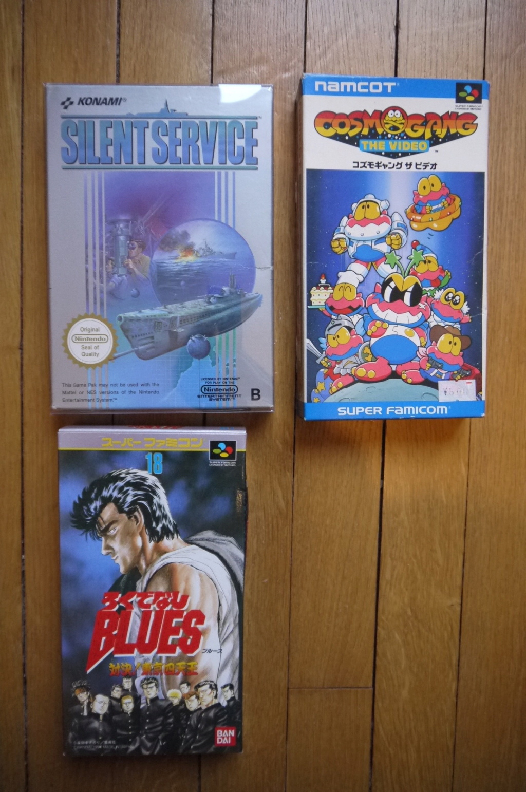 [VDS/ECH] Deja Vu, Tennis et Super Mario small box NES, jeux SFC, GB, DS, notices P1110512