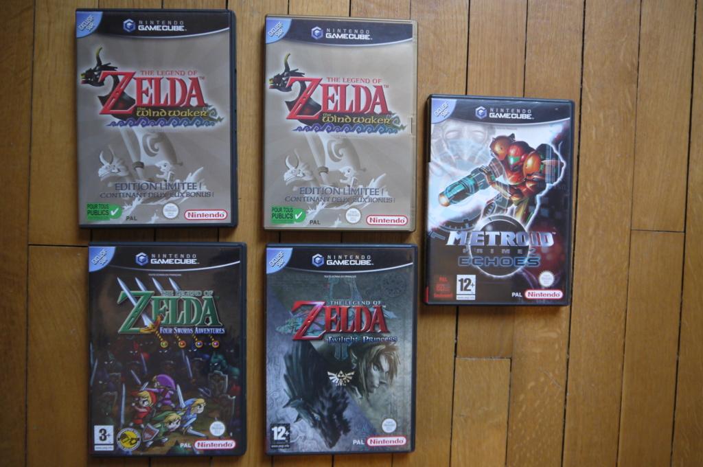 [VDS/ECH] Zelda the wind waker, Metroid prime 2, jeux NES, SFC, GB, FC, DS, notices P1110625