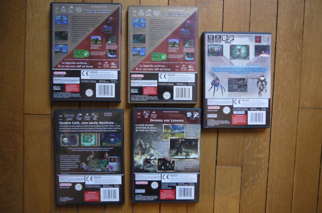 [VDS/ECH] Zelda the wind waker, Metroid prime 2, jeux NES, SFC, GB, FC, DS, notices P1110626