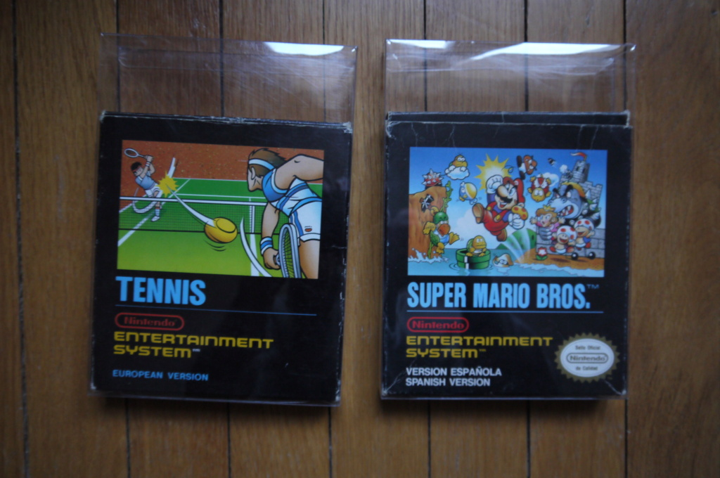 [VDS/ECH] Deja Vu, Tennis et Super Mario small box NES, jeux SFC, GB, DS, notices P1120912