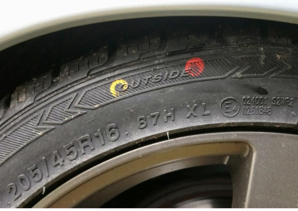 Une question de bande de roulement asymétrique, et de montage des pneus...  Sketch48