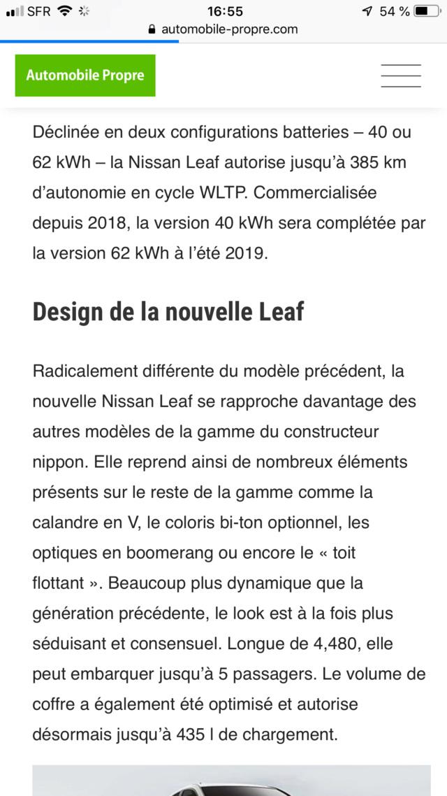 Nouvelle Nissan LEAF - Page 19 73a76910