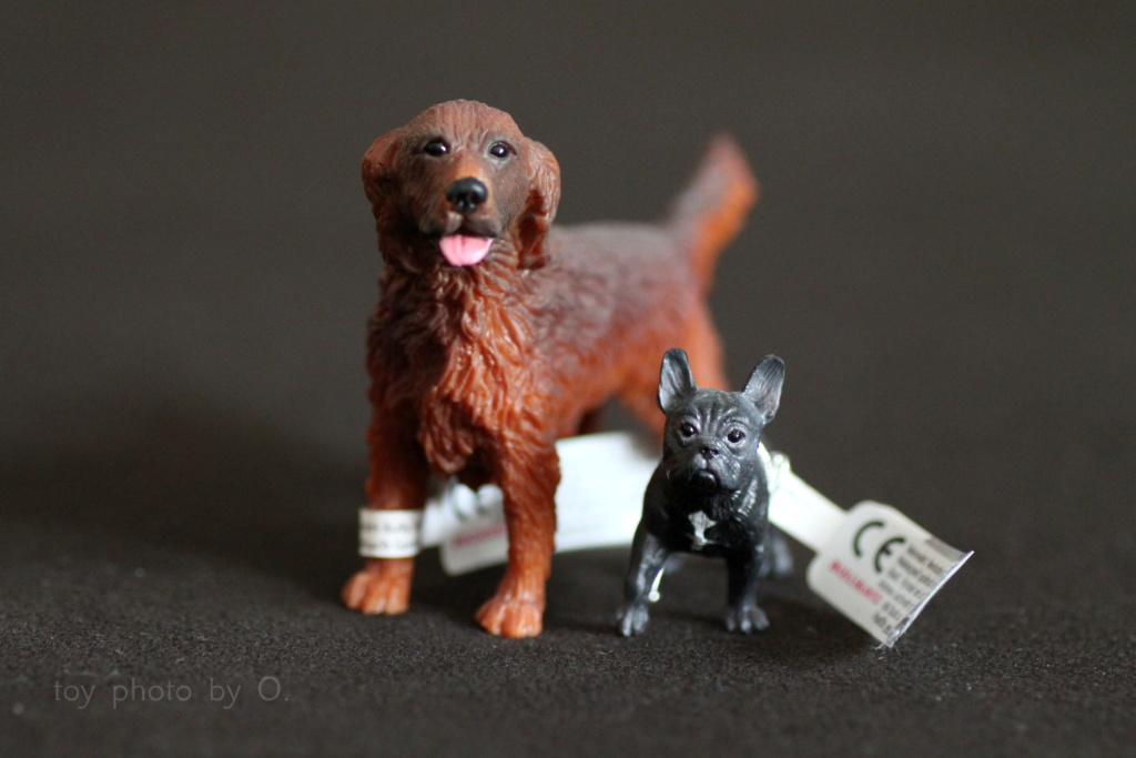 Bullyland setter and frenchie Bully_10