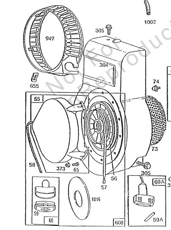 motoculteur - (terminé)  lanceur briggs & stratton 5 hp motoculteur 425 2020-013