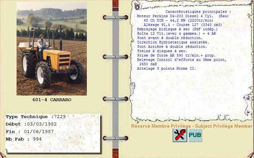 RENAULT - Concerne Tracteur Renault Carraro 601-4 Captur15