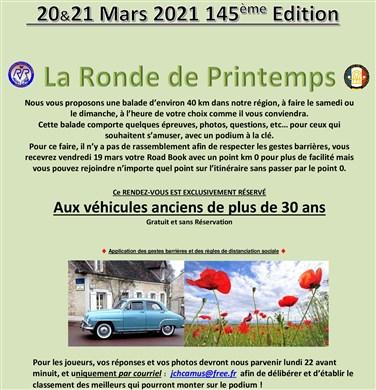 145ème Rendez-Vous de la Reine - Rambouillet - 15/16 mai 2021 Annonc10