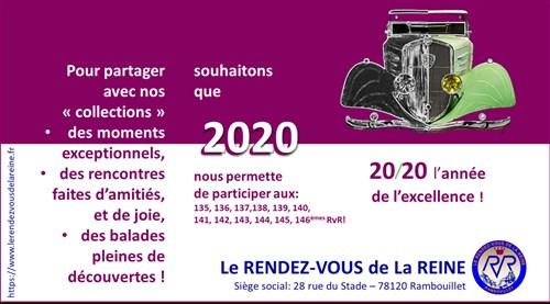 Les voeux 2020 sur Le Rendez-Vous de la Reine Cavoe210