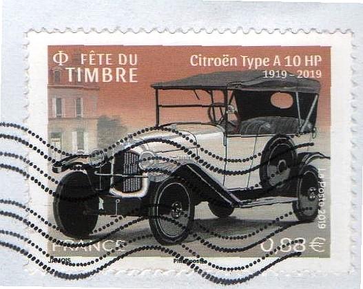 Automobile ancienne et philatélie Tim110