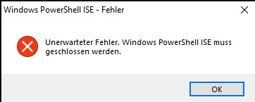 [SOLVED] [EX-100 - v2.1.8.0] [RS6 Build 18362.xx] Help files HTML is causing an Powershell ISE closing error Powers10