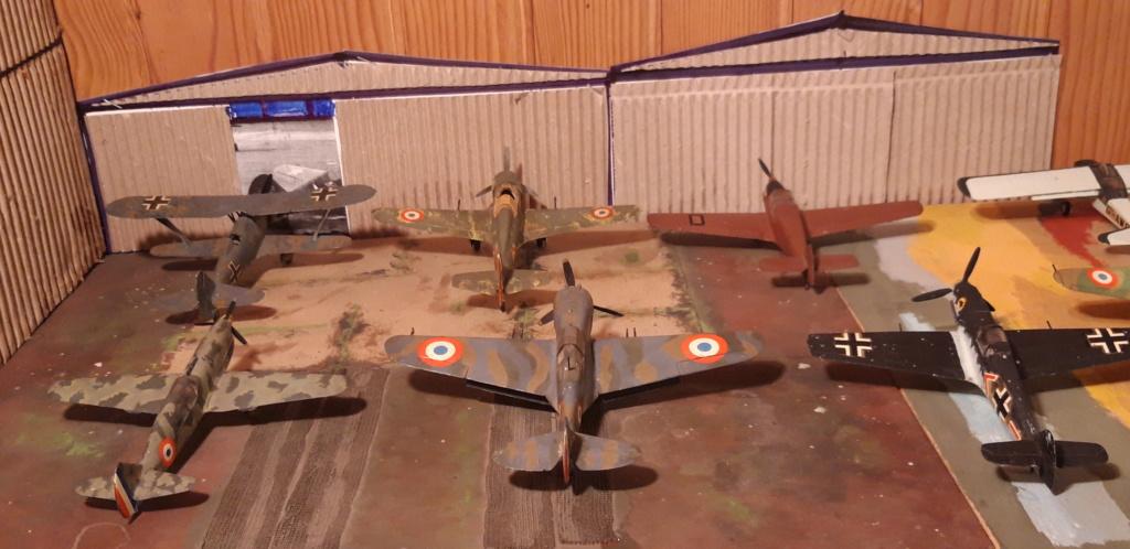 Curtiss H75 , Caudron 714 , ME109E . 1970 echelle 1/72ème 3_de_110