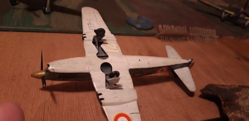 Curtiss H75 , Caudron 714 , ME109E . 1970 echelle 1/72ème Caudro10