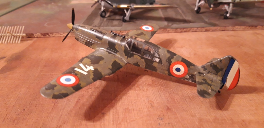 Curtiss H75 , Caudron 714 , ME109E . 1970 echelle 1/72ème Codron10
