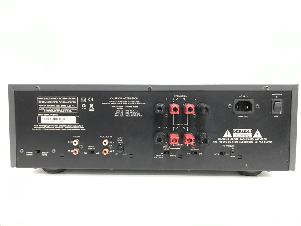NAD C272 Stereo Power Amplifier 21a02710