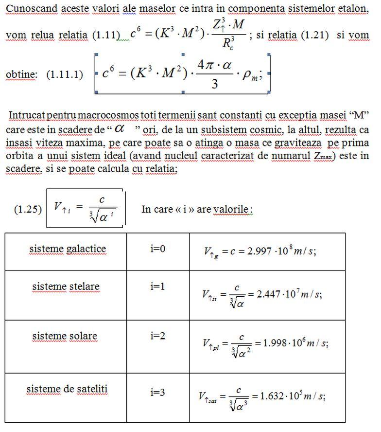 Dimensiunile comparative ale corpurilor ceresti. Tabelu12