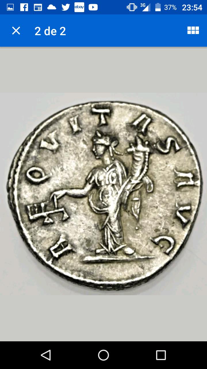 Antoniniano híbrido de Filipo II. AEQVITAS AVG. Aequitas estante a izq. Antioch. Screen10