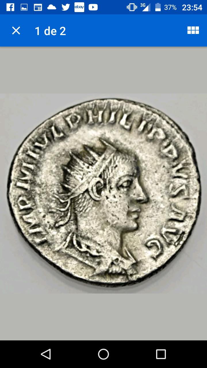 Antoniniano híbrido de Filipo II. AEQVITAS AVG. Aequitas estante a izq. Antioch. Screen11
