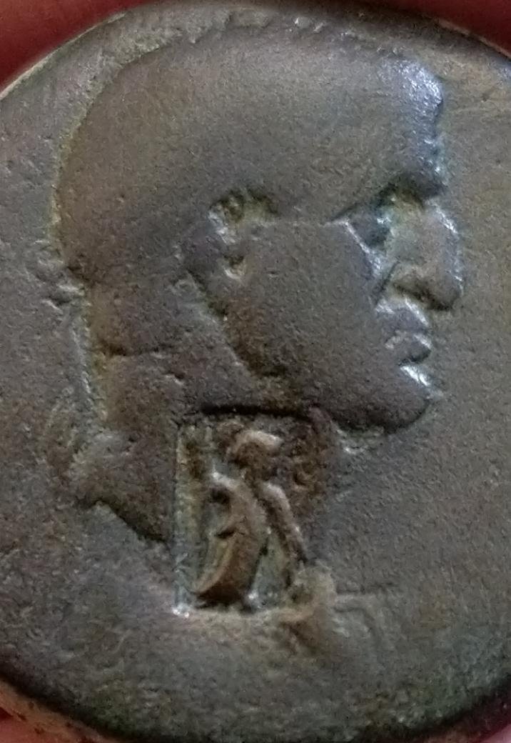 AE22 de Galba. SC. Antioquía (Resello de Atenea) Screen18