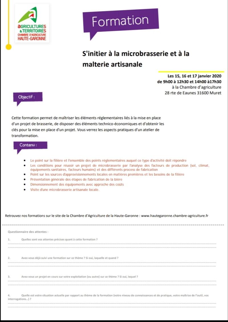formation / présentation pour être micro-brasseur 20190910
