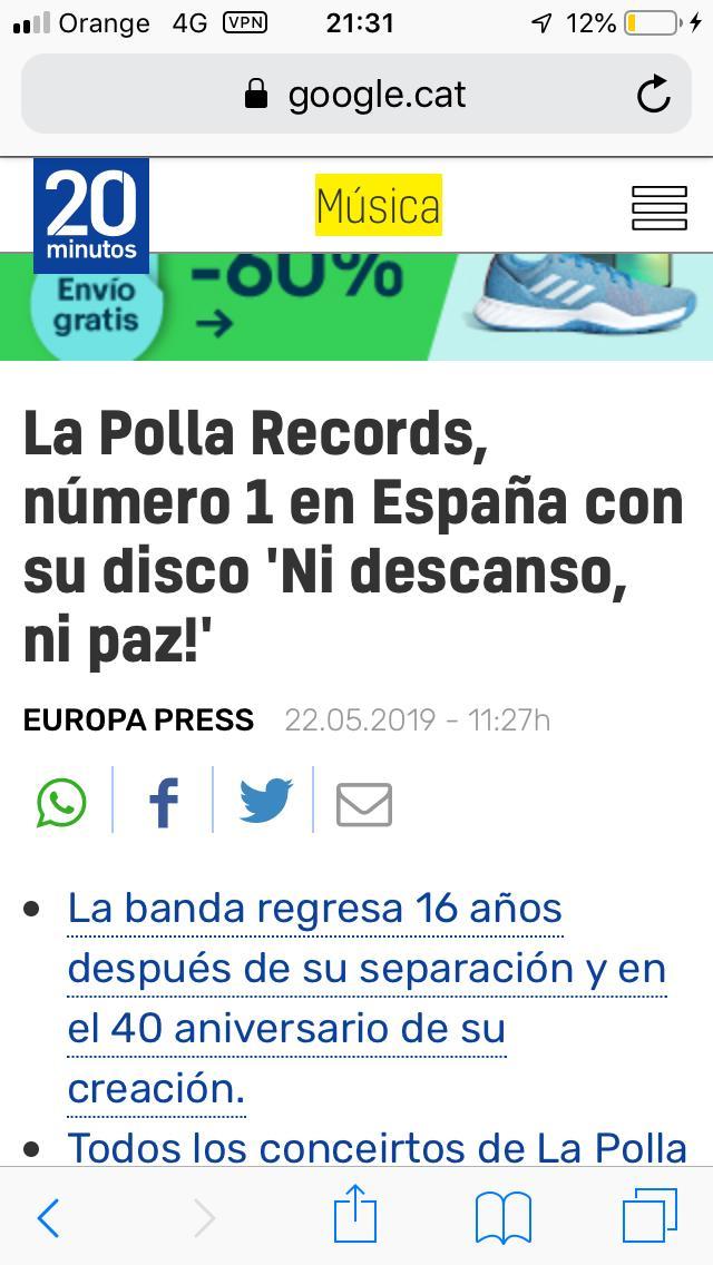 LA POLLA RECORDS Nº1 Lp110
