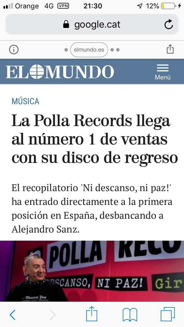 LA POLLA RECORDS Nº1 Lp210