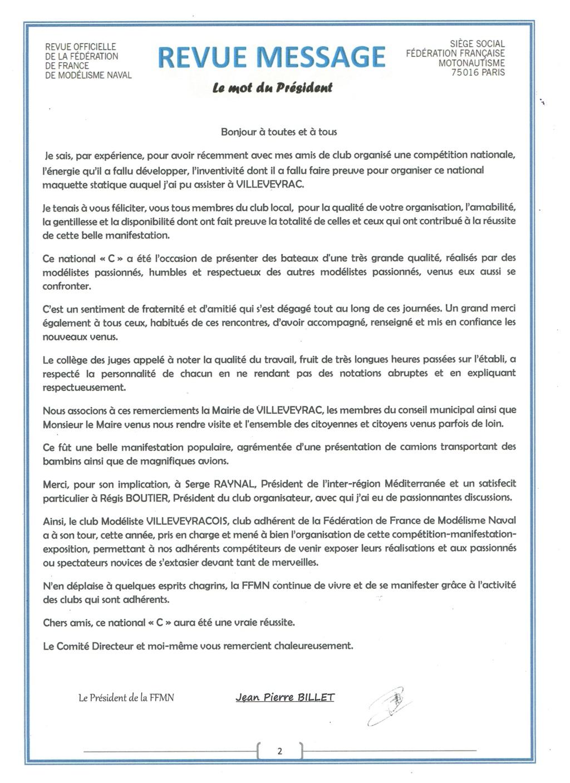 Championnat de France 2019 à Villeveyrac les 8, 9 et 10 juin prochain. Ffmn_m11