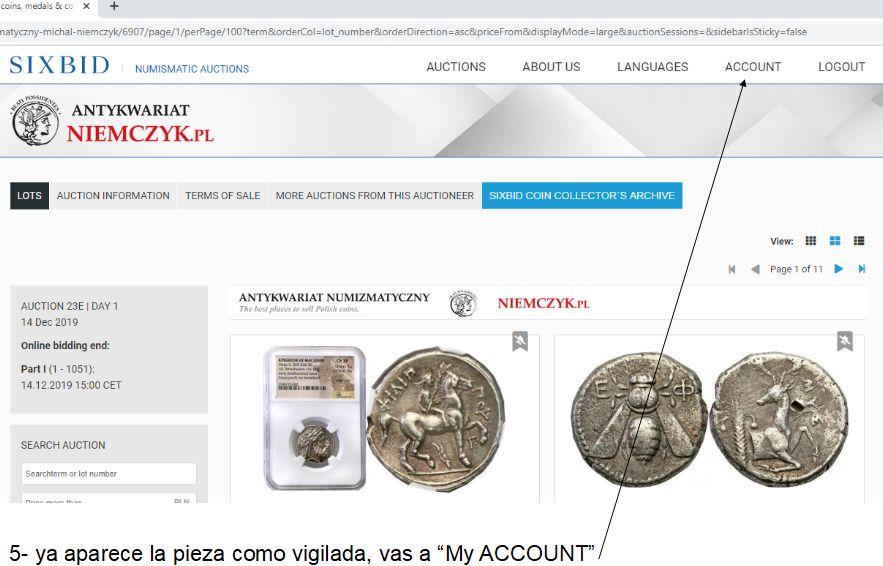 Cómo vigilar una moneda usando Sixbid dedicado a mreyna A510