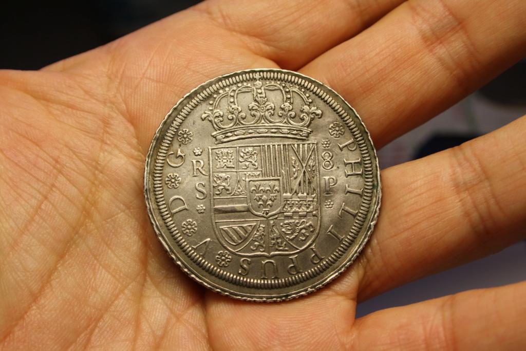 8 reales a rodillo de Felipe V Sevilla, 1728. Img_6610