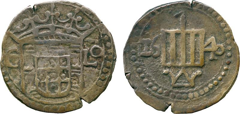 Medio duro de Felipe IV acuñado en La India (4 tangas de Malacca, 1635) Zzzz12