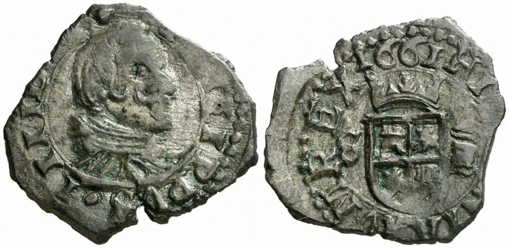 16 Maravedis de Felipe IV año 1663 ceca de Sevilla. Zzzz14