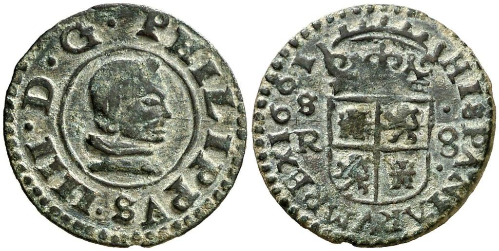 16 Maravedis de Felipe IV año 1663 ceca de Sevilla. Zzzzzz11