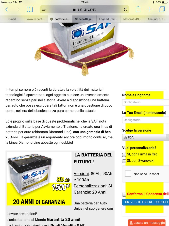 Batteria saf ... al prezzo di 1500€ 6b700c10