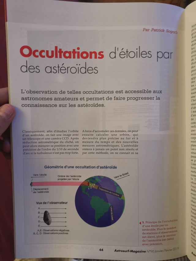 Article sur les occultations par des astéroïdes 50006510