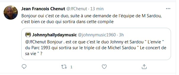Sortie Officielle du Duo L'Envie avec Michel Sardou au PDP 1993.  - Page 2 Chent210