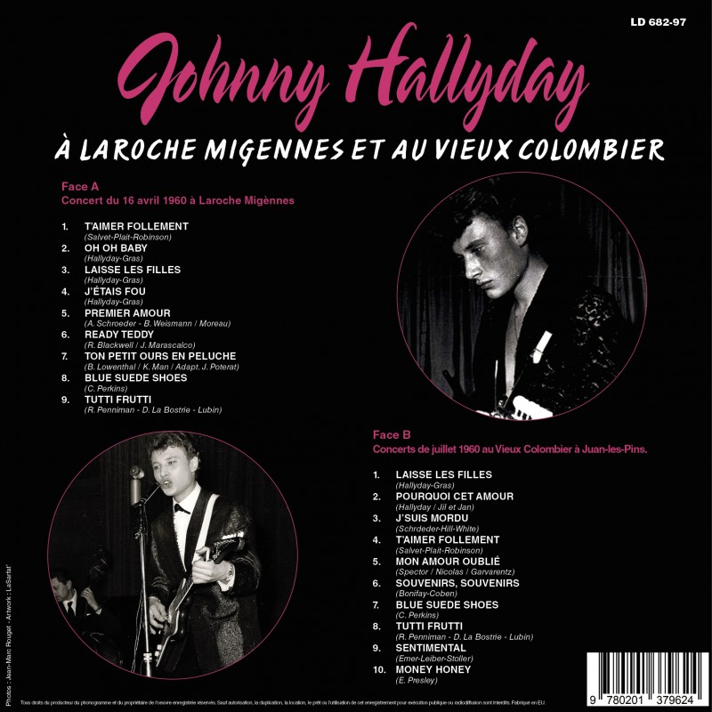 sortie mars 2019 vinyle Johnny17