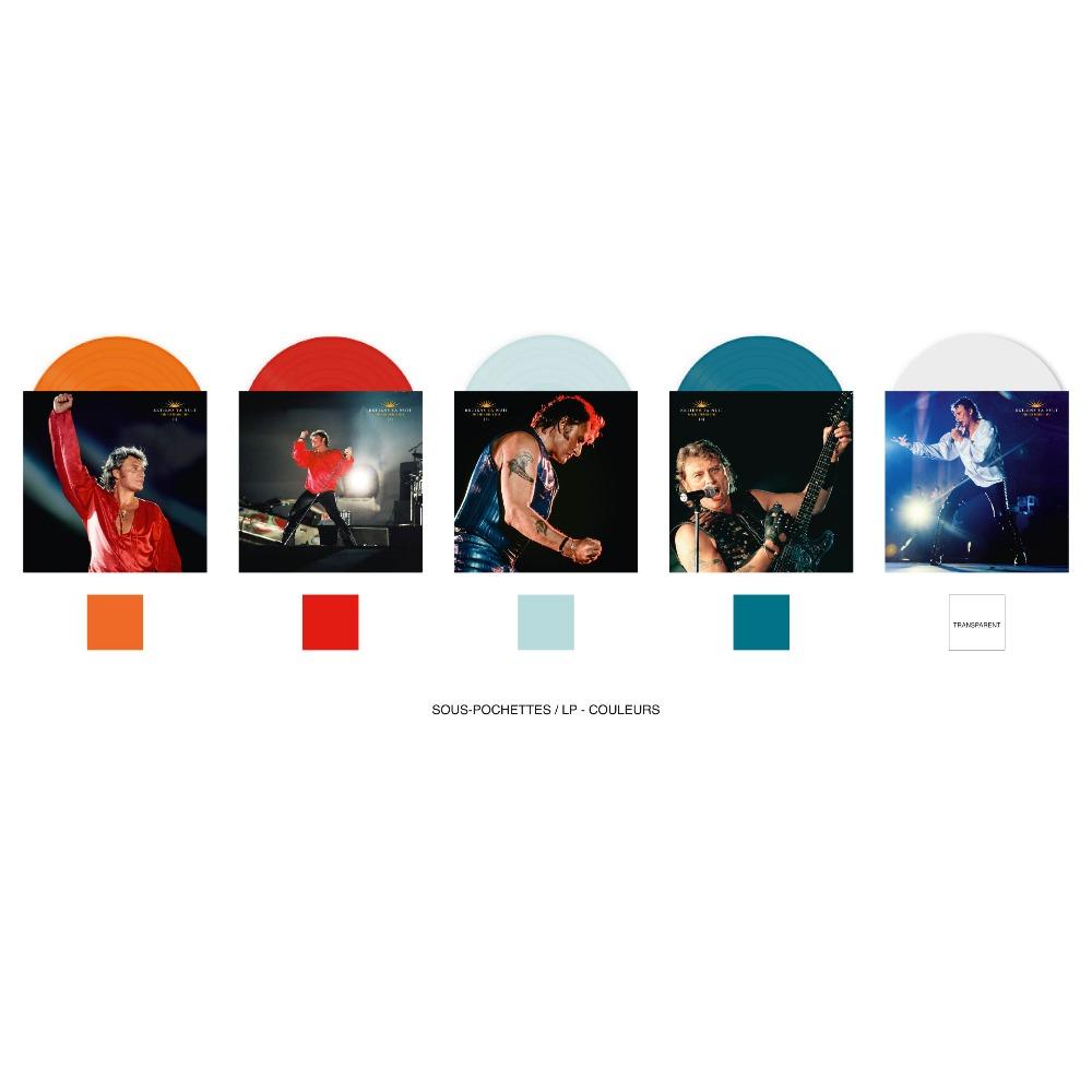 Pack | 5 LPs Couleurs Johnny Hallyday Parc 93 Parc210