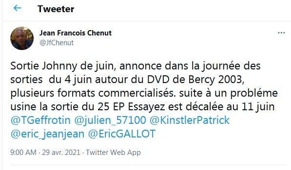"""Sortie coffret dvd """" Bercy 2003 """" Twitte10"""
