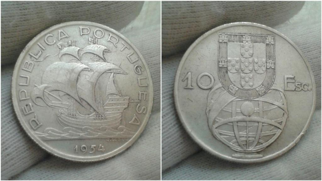 10 escudos de 1954. República de Portugal. 10_esc11