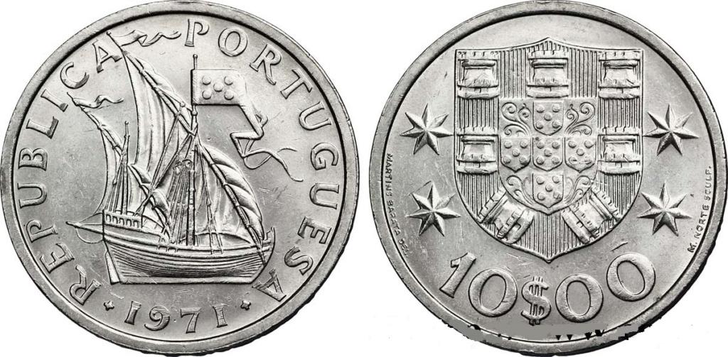 10 escudos de 1954. República de Portugal. 10_esc12