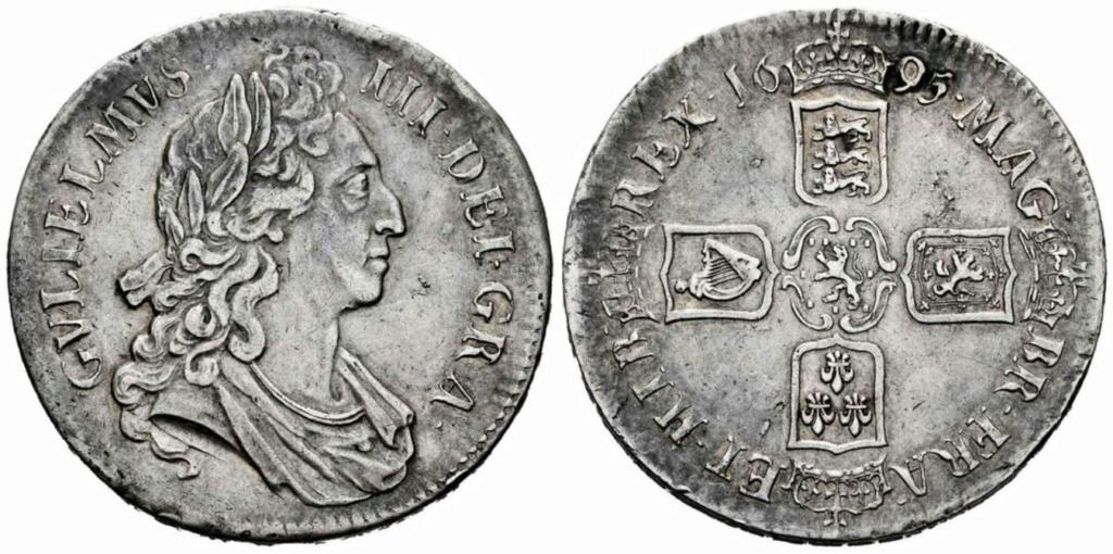 1 Corona. Guillermo III (1689-1702). Inglaterra. 1695. 1_coro10