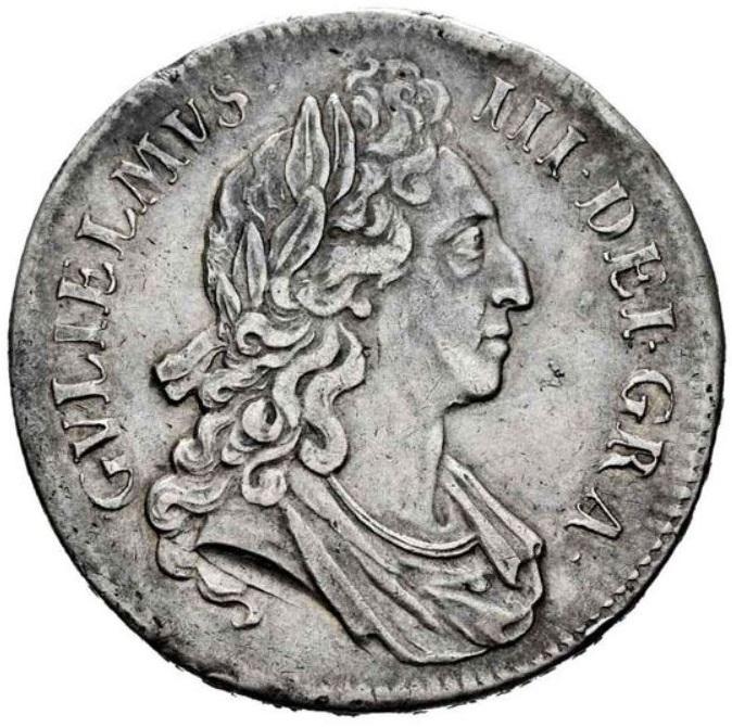 1 Corona. Guillermo III (1689-1702). Inglaterra. 1695. 1_coro11