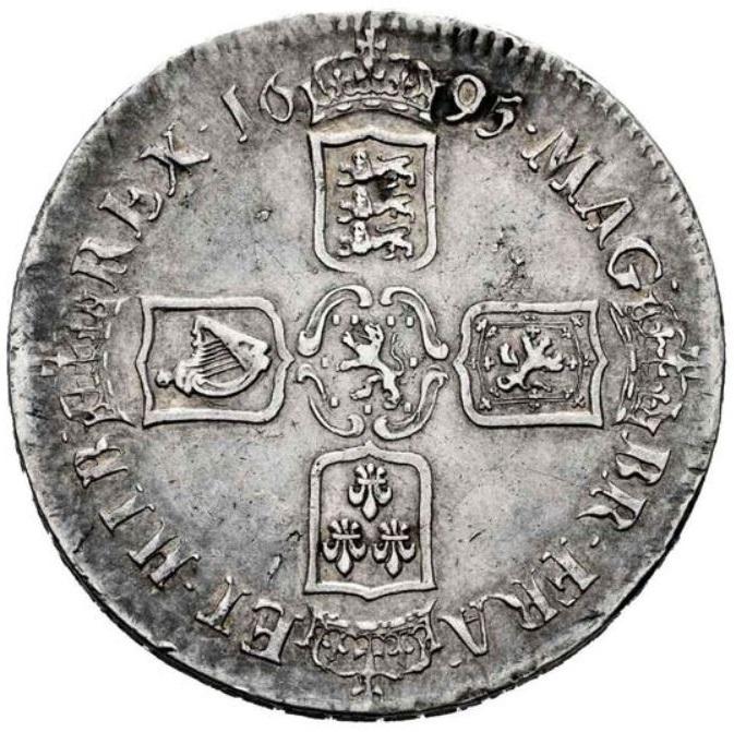1 Corona. Guillermo III (1689-1702). Inglaterra. 1695. 1_coro12